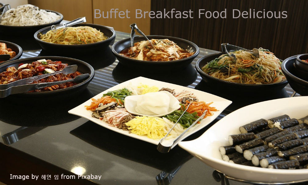Breakfast buffet Food Delicious